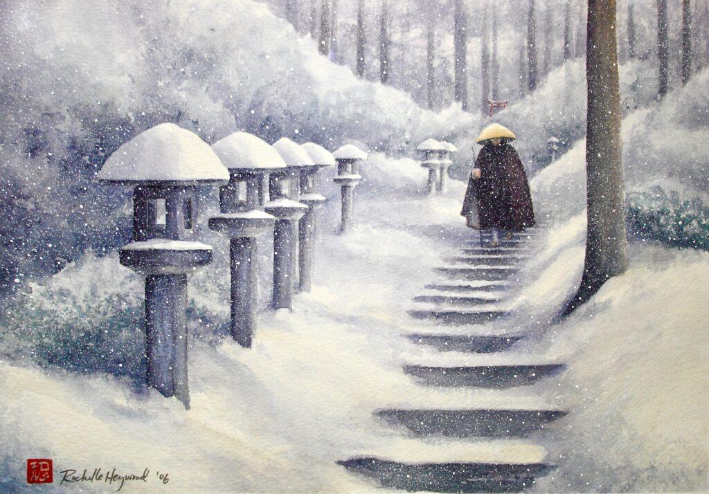 Monk on Steps - Rochelle Heywood