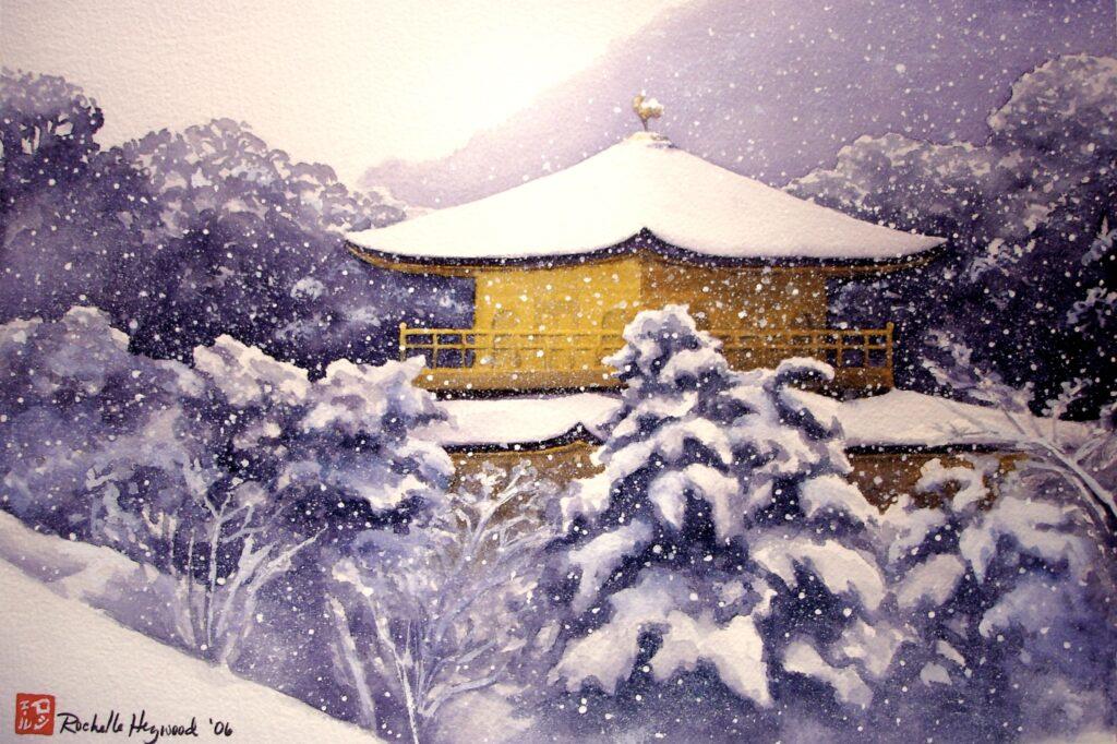 Kinkakuji in the Snow - Rochelle Heywood