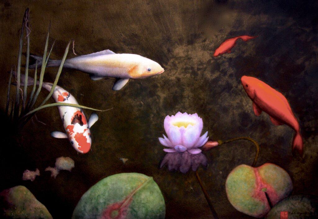 Lotus and Koi - Rochelle Heywood