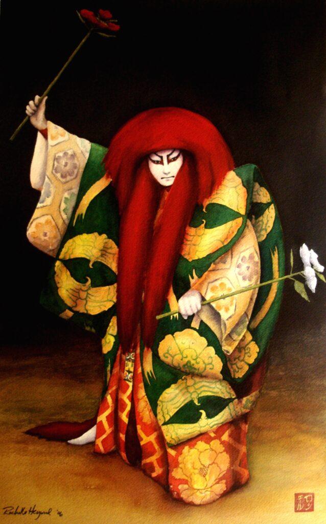 Red Shishi Dancer - Rochelle Heywood
